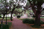 General James Oglethorpe Statue, Bronze Sculpture, walkway, hanging moss, trees, Chippewa Square, Historic Savannah, COGV02P01_13