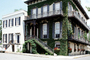 Home, House, corner building, stairs, ivy, Historic Savannah, COGV02P04_03