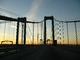 Delaware Memorial Bridge, 8 lanes of Interstate I-295 and US-40, steel suspension bridge, COJD01_115