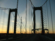 Delaware Memorial Bridge, 8 lanes of Interstate I-295 and US-40, steel suspension bridge, COJD01_116