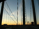 Delaware Memorial Bridge, 8 lanes of Interstate I-295 and US-40, steel suspension bridge, COJD01_117