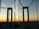 Delaware Memorial Bridge, 8 lanes of Interstate I-295 and US-40, steel suspension bridge, COJD01_120