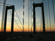 Delaware Memorial Bridge, 8 lanes of Interstate I-295 and US-40, steel suspension bridge, COJD01_121