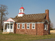 Taylor's Bridge School, District-66, Schoolhouse, Outside, brick one-room Building, Exterior, Outdoors, COLD01_026