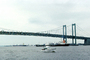 Delaware Memorial Bridge, 8 lanes of Interstate I-295 and US-40, steel suspension bridge, COLV01P03_07