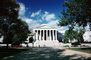 Supreme Court Building, Columns, clouds, trees, shadow