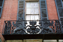 Ornate balcony, Opulent metalwork, window, flying lion, wings, winged, Shutters