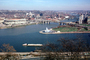 Point State Park Fountain, Three Rivers Stadium, Fort Duqesne Bridge, Allegheny River, Monogahela River, Pittsburgh