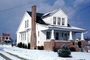 Snowy, Winter, Wintry, home, house, single family dwelling unit, chimney, residence