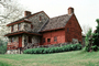 Log Cabin, House, Building, home, single family dwelling unit, chimney, residence, Brandywine Battlefield Park,  Laffayette's Headquarters, Chadds Ford, Pennsylvania