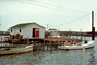 Crabbing Boats, Docks, Tangiers Island Harbor, July 1974, 1970's, COVV02P10_02