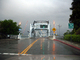 High Street Bridge, Double-leaf Bascule Drawbridge, Truss, Rainy, Crosses Oakland Estuary, Alameda, CSBD01_106
