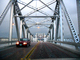 Crossing High Street Bridge, Double-leaf Bascule Drawbridge, Truss, Rainy, Crosses Oakland Estuary, Alameda, CSBD01_108