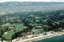 Homes, Houses, Mountains, Cliffs, Beach, Ocean, Isla Vista, coastline, seashore, coastal