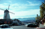 Windmill, Car, Automobile, Vehicle, Solvang, December 1975