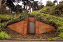 Tunnel Entrance, Bunker, Ivy, Brick, The Presidio, building, detail