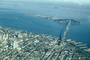 SOMA, downtown, The Embarcadero, piers, docks, buildings, Bay Bridge, 1953, 1950's, CSFV01P01_10