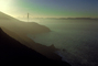 Early Morning, sunrise, Golden Gate Bridge, hazey fog, CSFV01P06_10