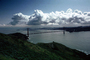 Golden Gate Bridge, Cityscape, Skyline, Buildings, Clouds, Marin Headlands
