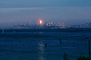 Bank of America Building from Sausalito, Sunset, Sunclipse, CSFV03P15_12