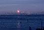 Bank of America Building from Sausalito, Sunset, Sunclipse, CSFV03P15_13