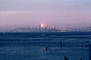 Bank of America Building from Sausalito, Sunset, Sunclipse, CSFV03P15_15