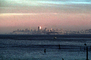 Bank of America Building from Sausalito, Sunset, Sunclipse, CSFV03P15_17