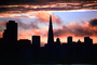 Transamerica Pyramid, Sunset, Sunclipse