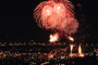 Fireworks, Boats, buildings, the Embarcadero, 50th anniversary party celebration for the Bay Bridge, CSFV06P14_04