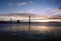 San Francisco Oakland Bay Bridge in the early morning
