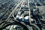 2nd street, buildings, skyline, SOMA, freeway, December 7 1988, 1980's