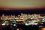 night, Cityscape, skyline, buildings, skyscrapers, Downtown, Outdoors, Outside, Exterior, Nighttime. lights, view from Potrero Hill
