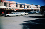 Exterior, Outside, Outdoors, Building, small town, main street, downtown, Little Town, Americana, cars, Taos, 1960's