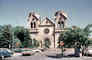 Cathedral Basilica of St. Francis of Assisi, St. Francis Cathedral, Santa-Fe, cars, September 1974, 1970's, CSMV02P11_05
