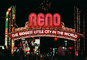 Reno Arch, night, arch, neon, Exterior, Outdoors, Outside, Nighttime, landmark