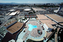 Swimming Pool, Flying Saucer Dome, buildings, Hexagon, skyline, CSNV01P10_02
