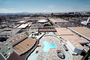 Swimming Pool, Flying Saucer Dome, buildings, Hexagon, skyline, Hilton Hotel, CSNV01P10_03
