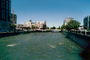 Truckee River, Endorheic River, Water, Flow, Downtown Reno, buildings, bridge, Holiday Casino