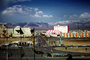 circus circus, road, Mountains, casino, buildings, hotels, May 1973, 1970's, CSNV03P02_16