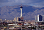 the Stratosphere, Cityscape, Skyline, Buildings, Hotel, Casino, tower, mountain range
