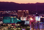 The Strip, Twilight, Dusk, Dawn, Cityscape, Skyline, buildings, casinos, hotels, neon signs, CSNV03P13_08