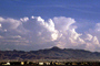 Cumulus Clouds, mountains, CSNV04P12_14