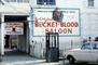 Bucket of Blood Saloon, Virginia City, building, phone booth, rambler car, sign, June 1967, 1960's, CSNV06P07_13B