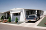 Trailer Home, Ford Galaxie, Driveway, Garage, Cars, vehicles, Automobile, 1950's