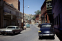 Downtown Bisbee, Cars, buildings, shops, hill, April 1972, 1970's