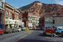 Downtown Bisbee, Cars, buildings, shops, hill, December 1976, 1970's