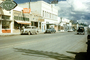 Black Cat Cafe, Sprouse Reitz Co., shops, stores, buildings, cars, vehicles, Automobile, Flagstaff, Arizona, September 1949, 1940's