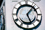 The Clock Stops, Loma Prieta Earthquake, (1989), 1980's, outdoor clock, outside, exterior, building, roman numerals, DAEV01P09_02