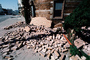Fallen Bricks, Marina district, Loma Prieta Earthquake (1989), 1980's, DAEV01P09_13