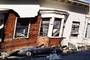 Collapsed Home, Crushed Automobile, Marina district, Loma Prieta Earthquake (1989), 1980's